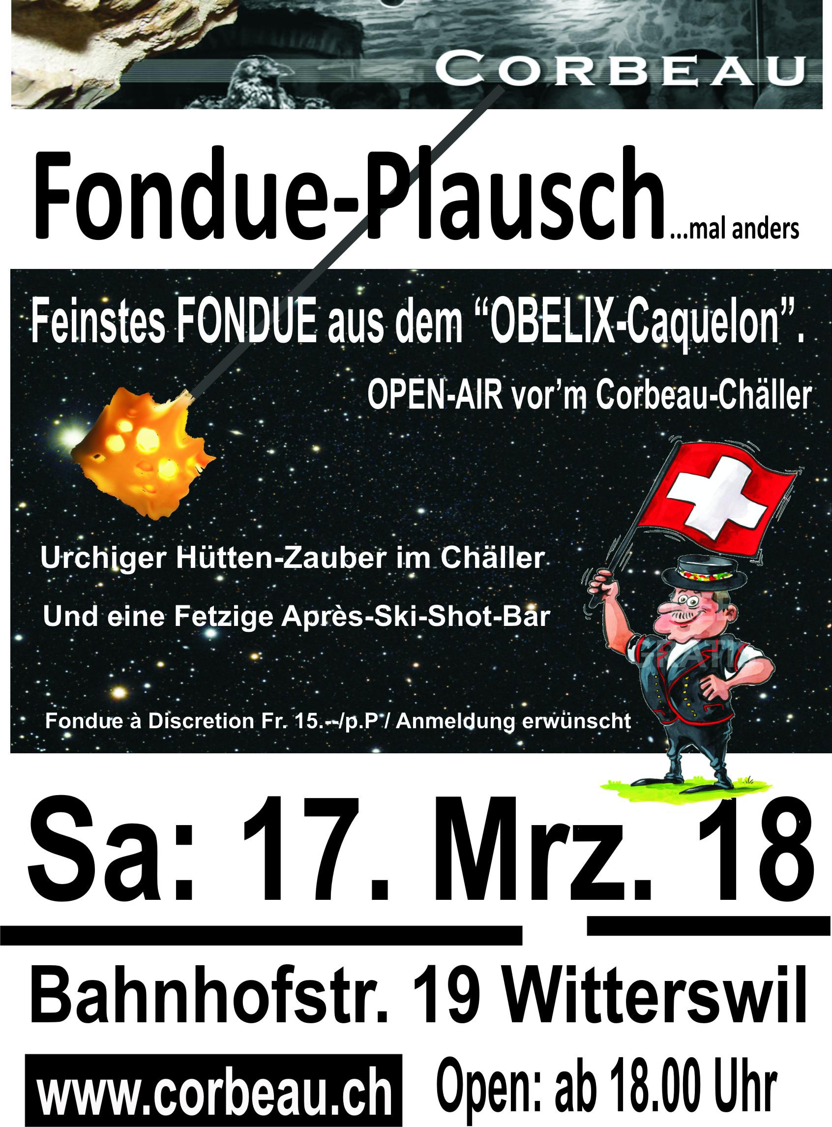 Plakat Fondue-Plausch 18